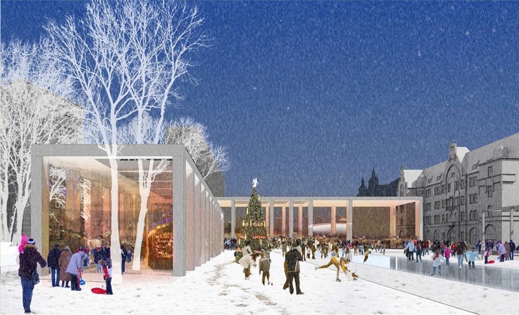 © City Hall of Katowice; concept design prepared by GPP and EKSPO – the second prize's winners of the the open international competition for the architectural concept of the Market Sq. – Roundabout'spublic spaces